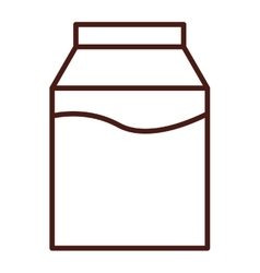 milk box isolated icon vector image vector image