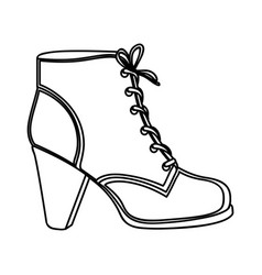 Monochrome silhouette of leather high heel shoe vector