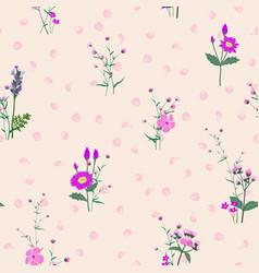 monotone on purple shade blooming flowers garden vector image