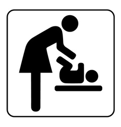 Mother room sign vector