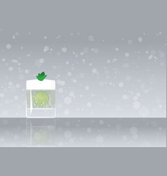 Official cocktail icon the unforgettable gin fizz vector