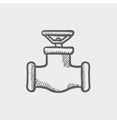 Oil pipe sketch icon vector image