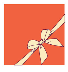 Orange box and yellow bow vector image