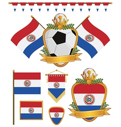 paraguay flags vector image