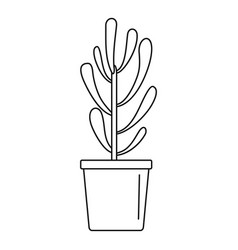 plant tree cactus icon outline style vector image