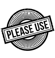 Please use rubber stamp vector