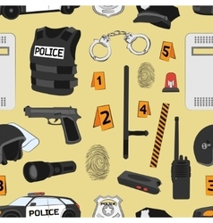 Police Safety concept pattern vector
