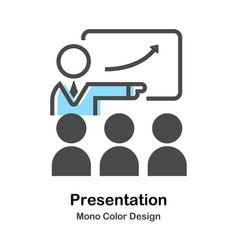 Presentation mono color vector
