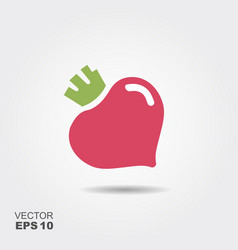 Purple beet icon logo fresh vegetarian concept vector