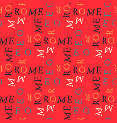 Rome pattern seamless design vector