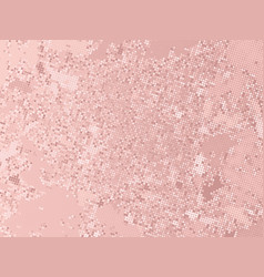 Rose gold sequins texture abstract halftone vector