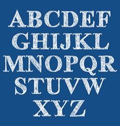 Scribble handwritten font fresh brushed alphabet vector