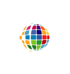 spectrum world pixel logo vector image