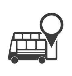 Stop bus location pin vector