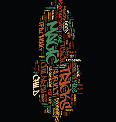 Teach children magic text background word cloud vector