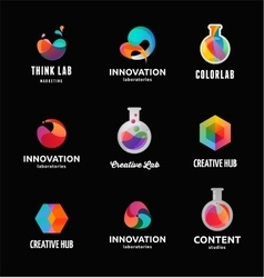 Technology laboratory innovation and science vector image