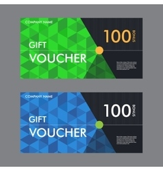 Template gift voucher with the background of the vector image