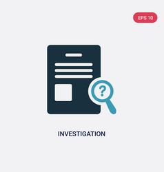 Two color investigation icon from law and justice vector