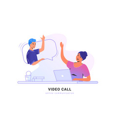 video call conversation or chat concept vector image