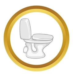 White toilet bowl icon vector image