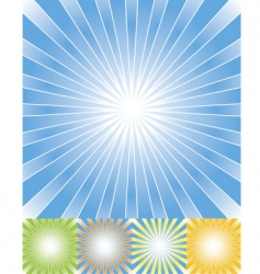 Abstract rays background set cmyk vector