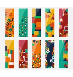 Abstract various 10 colorful header set collection vector image