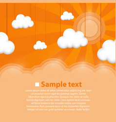 decoration clouds background vector image vector image
