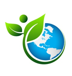 Green earth logo vector