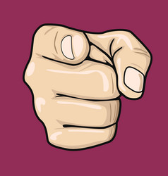 hand pointing index finger at observer vector image