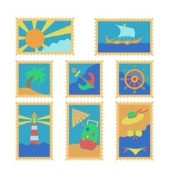 summer stamps vector image