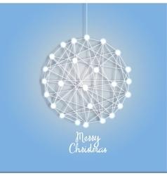 Christmas ball of luminous garlands vector