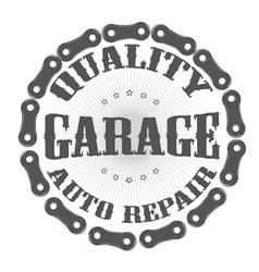 garage auto vector image vector image