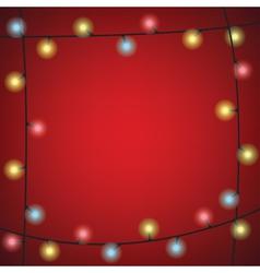 luminous garland frame vector image