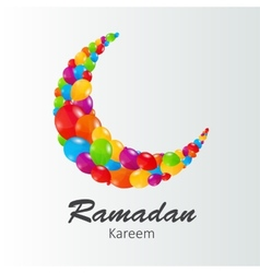 Moon Background for Muslim Community Festival vector image vector image