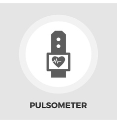 Pulsometer icon flat vector image vector image