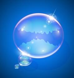 Soap bubble for message vector