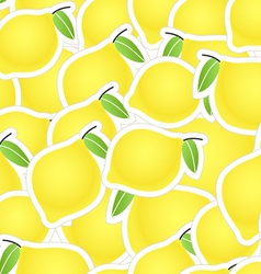 Yellow citrus seamless background vector image vector image