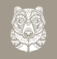 Bear totem mask vector