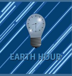 earth hour energy saving vector image