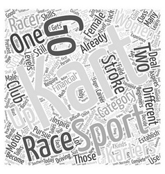 Karting a female sport too word cloud concept vector