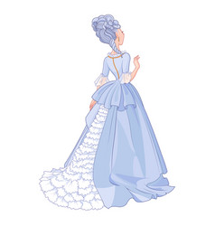 lady in beautiful blue dress vector image vector image