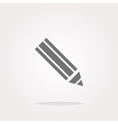 pencil on web icon web button isolated on white vector image