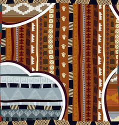 Seamless pattern in African style vector image vector image