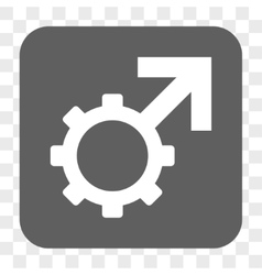 Technological Potence Rounded Square Button vector image