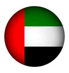 United Arab Emirates flag button vector image