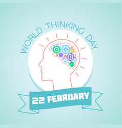 22 february world thinking day vector image vector image