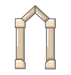 archway element icon cartoon style vector image vector image