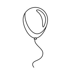 balloon decoration celebration party line vector image