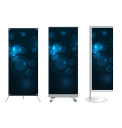 banner stand display vector image vector image