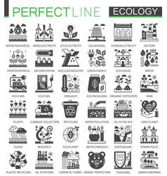 ecology technology classic black mini concept vector image
